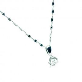 首饰 钻石吊坠+项链 0.81g