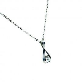 首饰 钻石吊坠+项链 1.06g