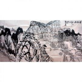 刘文西    山水画作品    《华岳雄姿》