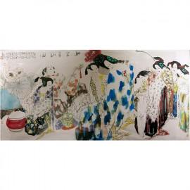 王西京     人物画作品  《骊宫春韵图》