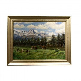 王胜利     风景油画  《新疆风光》