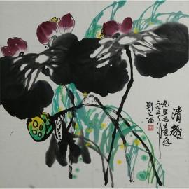 刘文西    花鸟作品    《清趣》
