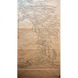 杨光利   白描作品   《印度乡情人》