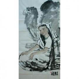 黄庆安    人物作品   《印度少女》
