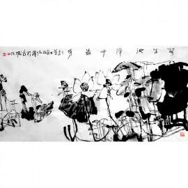 姜怡翔    花鸟作品   《荷生池泽中最秀》