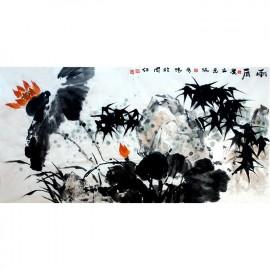 刘奇伟    花鸟作品   《雨后》