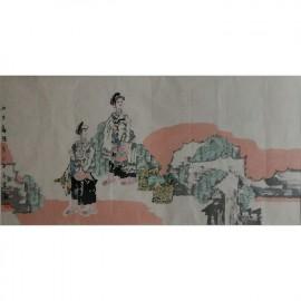刘永杰    人物作品   《山乡喜暖》