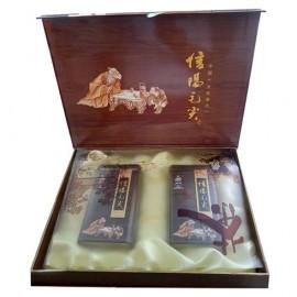 信阳毛尖  茶叶 绿茶 褐色礼盒包装
