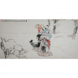 姬国强     人物作品《雪顿节》