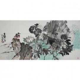 巨石      花鸟作品《季阳菊》
