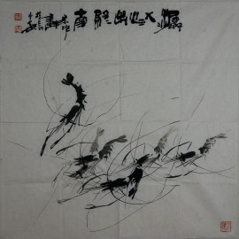 刘保申     花鸟作品《潺潺出终南》