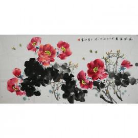王金茹    花鸟作品《花开富贵》