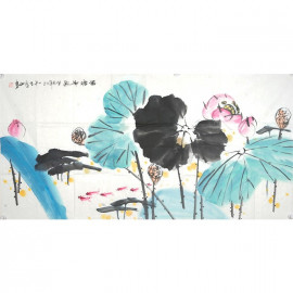 王金茹    花鸟作品《满堂和气》