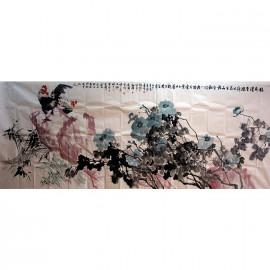 谢晖、刘奇伟等合作     花鸟作品《稔色浓香》