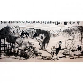 姜怡翔    花鸟作品《荷和美魅》