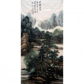 李百战     中国山水作品《草庐闲居》