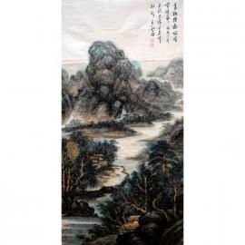 李百战     中国山水作品《青树溪边幽居》