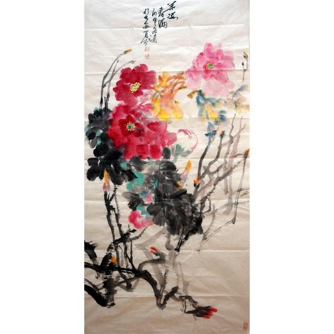 李百战    中国花鸟画  《柔姿春满》