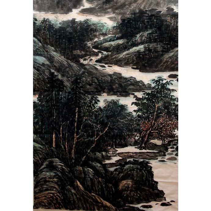 李百战     中国山水作品《溪山清净》