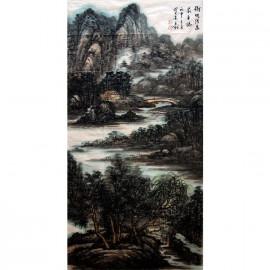 李百战     中国山水作品《树映清泉》