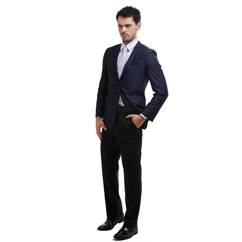 西服男装  修身型 蓝色西服 商务绅士  伟志