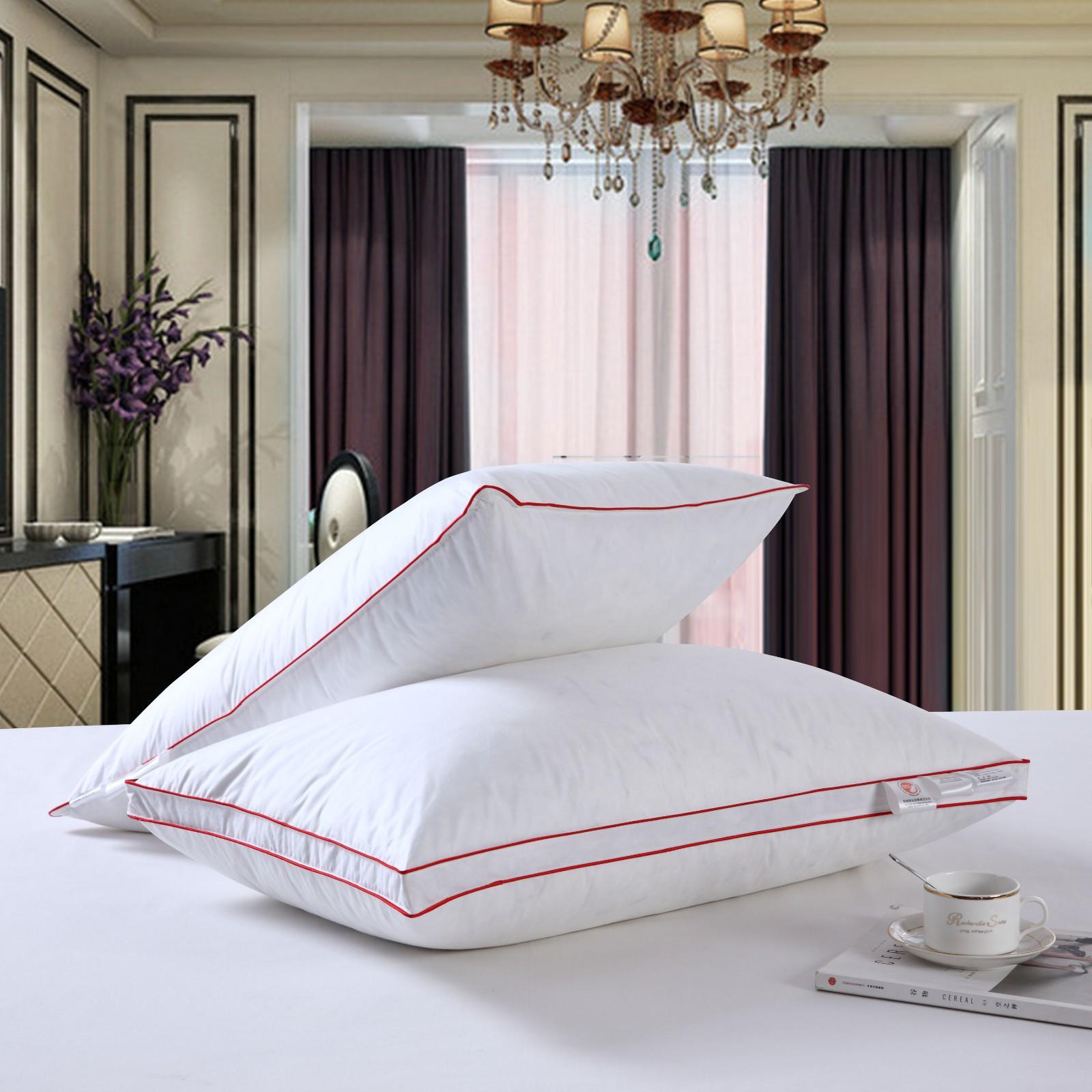 枕头枕芯    酒店全棉30%白鸭绒枕芯  路安特