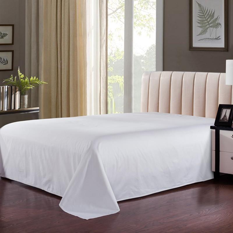 酒店床单白色    床上用品   100%棉60S*40S    路安特