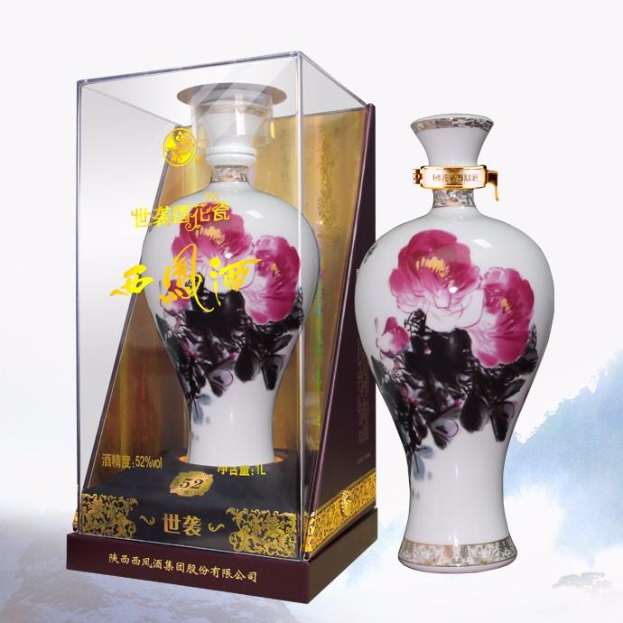 52度国花瓷西凤酒世袭限量版1000mL×4盒   整箱起售