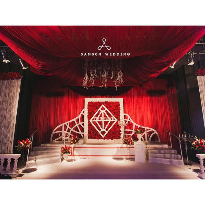 婚庆服务婚礼策划  现代风格  红色摩登