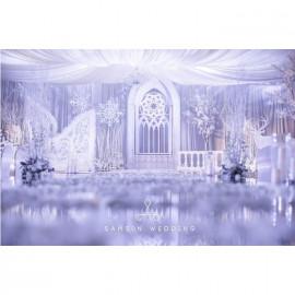 婚庆服务婚礼策划 唯美 纯洁 简约风格 白色冰雪精灵
