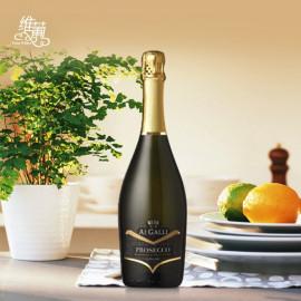 维葡 意大利艾嘉丽庄园普罗塞克起泡葡萄酒原瓶原装进口