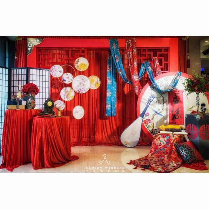 婚庆服务婚礼策划 中式 古典 传统风格 皎雀红妆