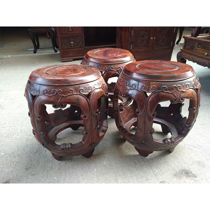 古凳一套 (16件)   大红酸枝红木家具