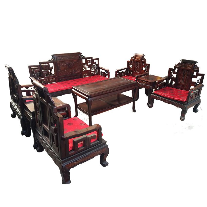 明式沙发   八件套   大红酸枝家具