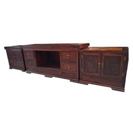 电视柜三件套   大红酸枝红木家具