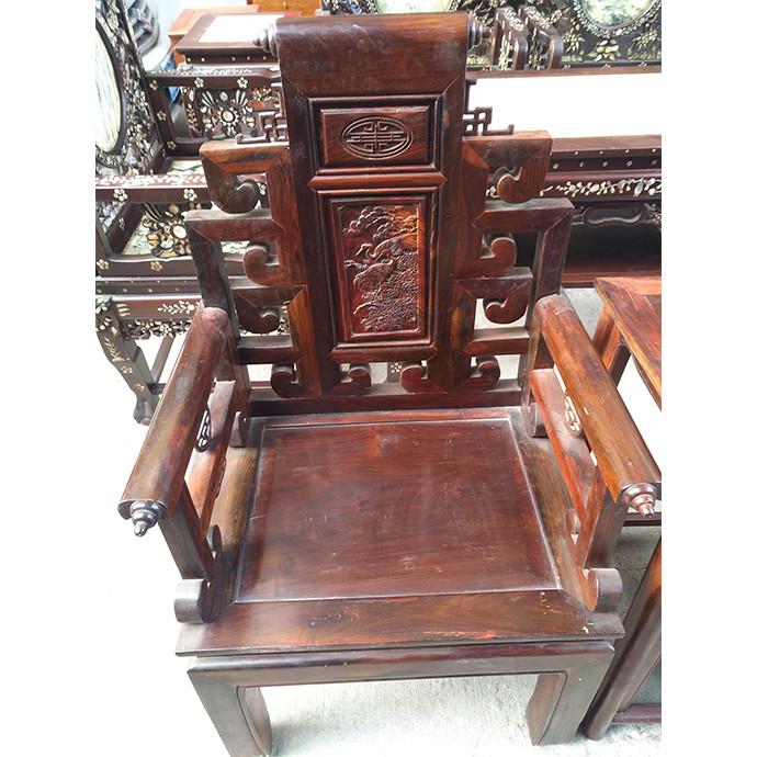 太子椅书香中堂三件套 红木大红酸枝家具