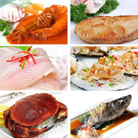 海鲜餐馆 海中鲜 海鲜广场 储值卡1000元