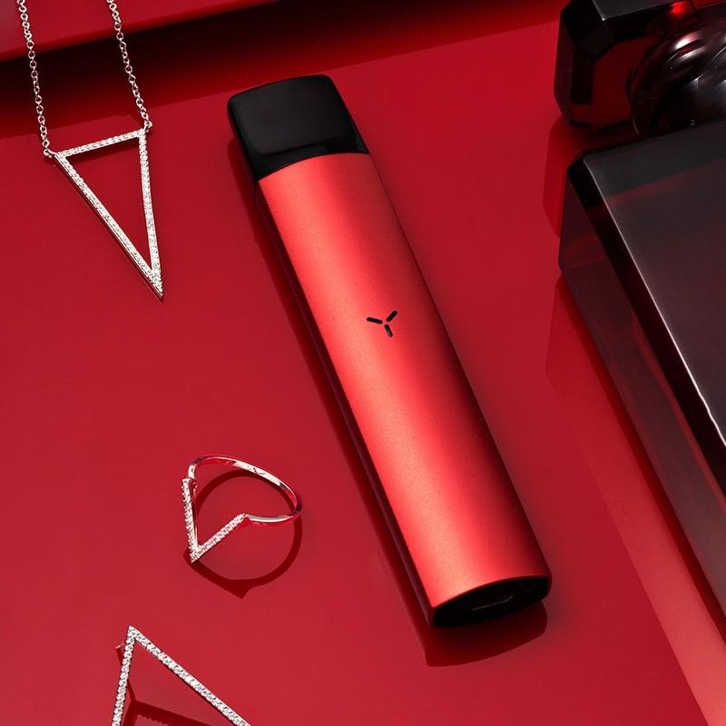 YOOZ电子烟含孤境黑和炙烈红及深空灰三种标准套餐单杆装