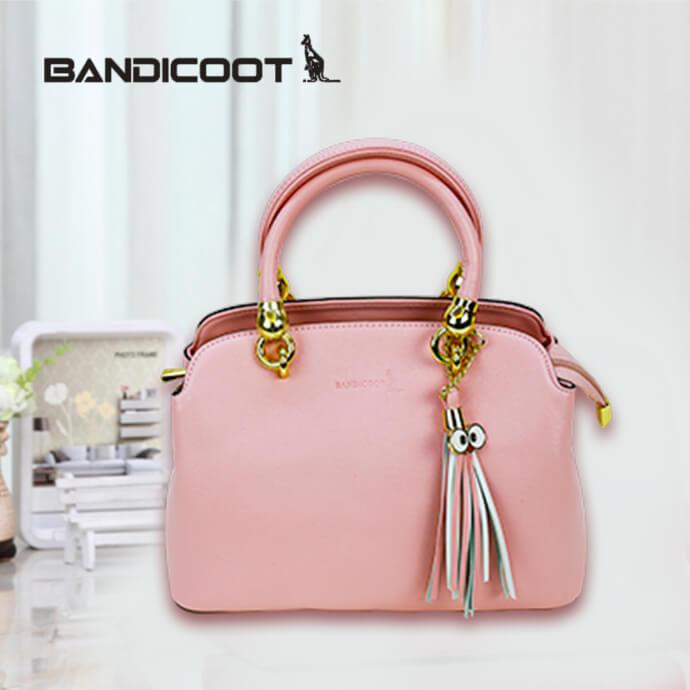 袋鼠(BANDICOOT)女包 时尚女包 女士单肩包 手提包L171922-05B粉红色