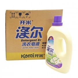 开米(kaimi)涤尔洗衣皂液雏菊香型无磷不伤手 8瓶/箱