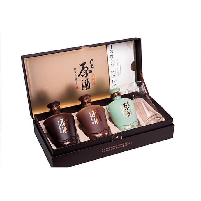 泸宜遵 固态原酒礼盒装(酱、浓、清组合)250ml*3 礼盒
