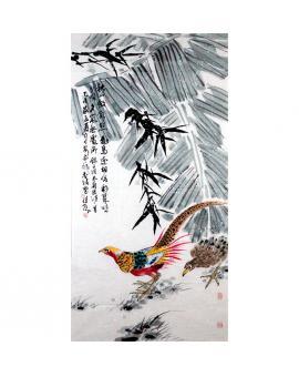 杨佳焕   花鸟作品《锦瑟幽鸣》
