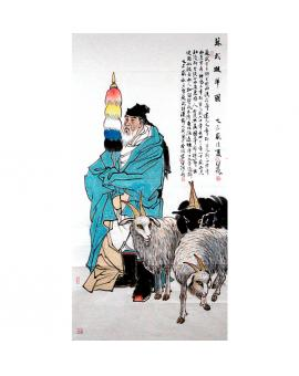 杨佳焕    人物作品 《苏武牧羊图》