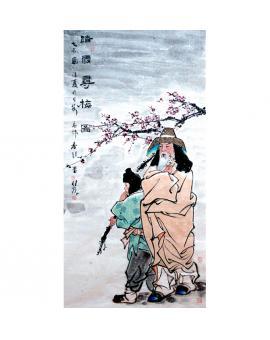 杨佳焕      人物作品  《踏雪寻梅》