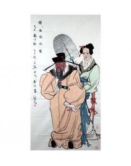杨佳焕    人物作品《钟馗嫁妹图》