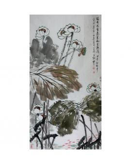 李百战   中国花鸟画《荷花送香气》