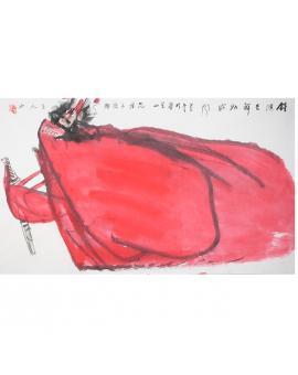 范桦 国画 人物《钟馗吉祥助威风》