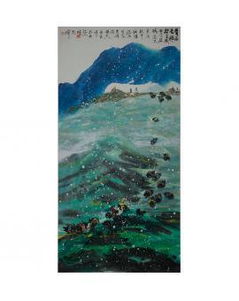 范桦 国画 山水《青藏高原》